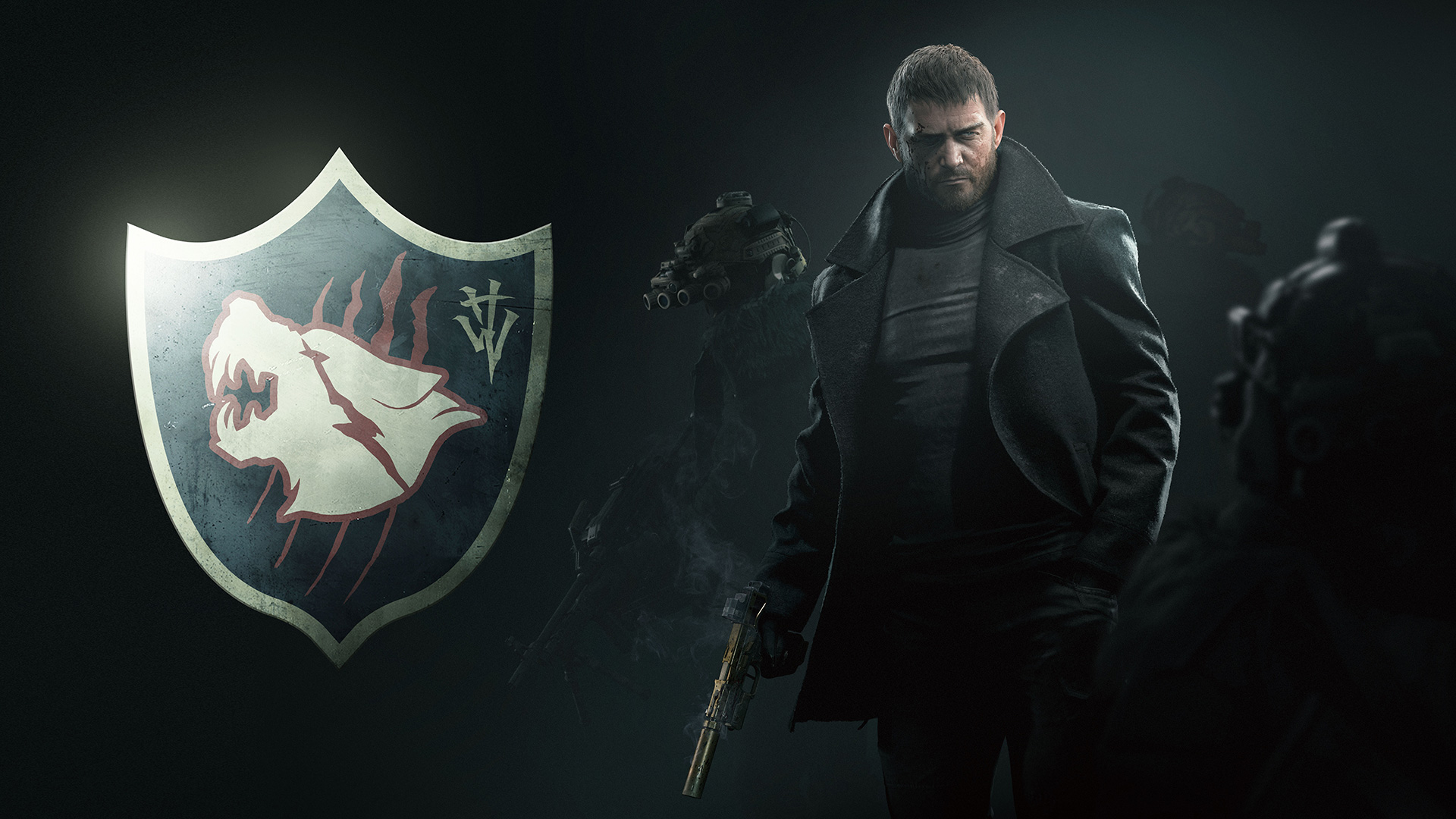 The emblem for Hound Wolf Squad in Resident Evil Village.