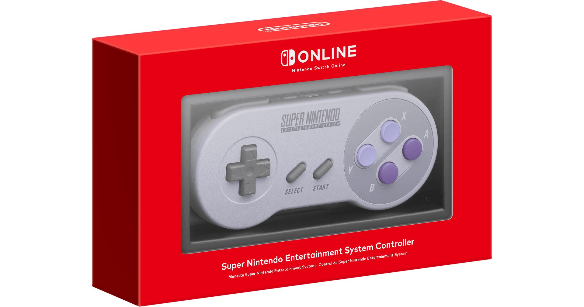 Nintendo Switch Online SNES Controller in the box