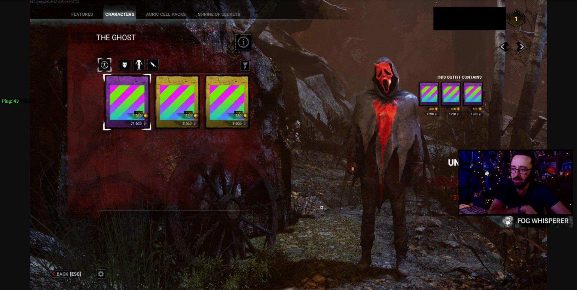 Dead by Daylight Ghostface alternate skin