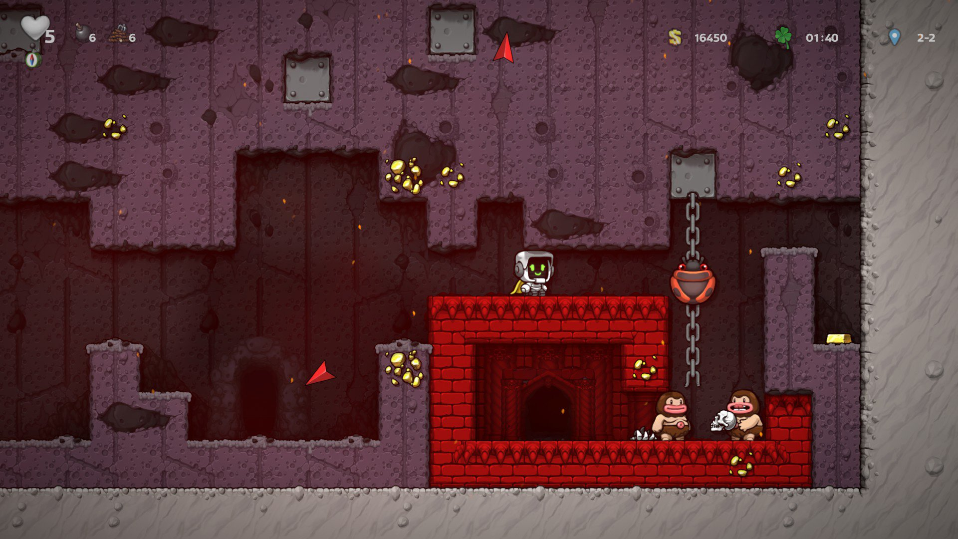 How to reach Vlad and get the crown in Spelunky 2