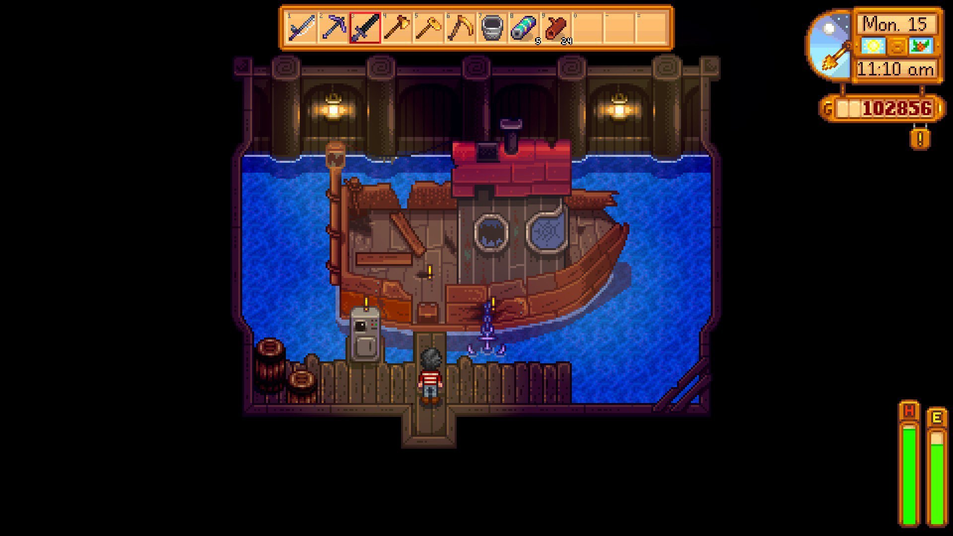 How to fix Willy's boat in Stardew Valley