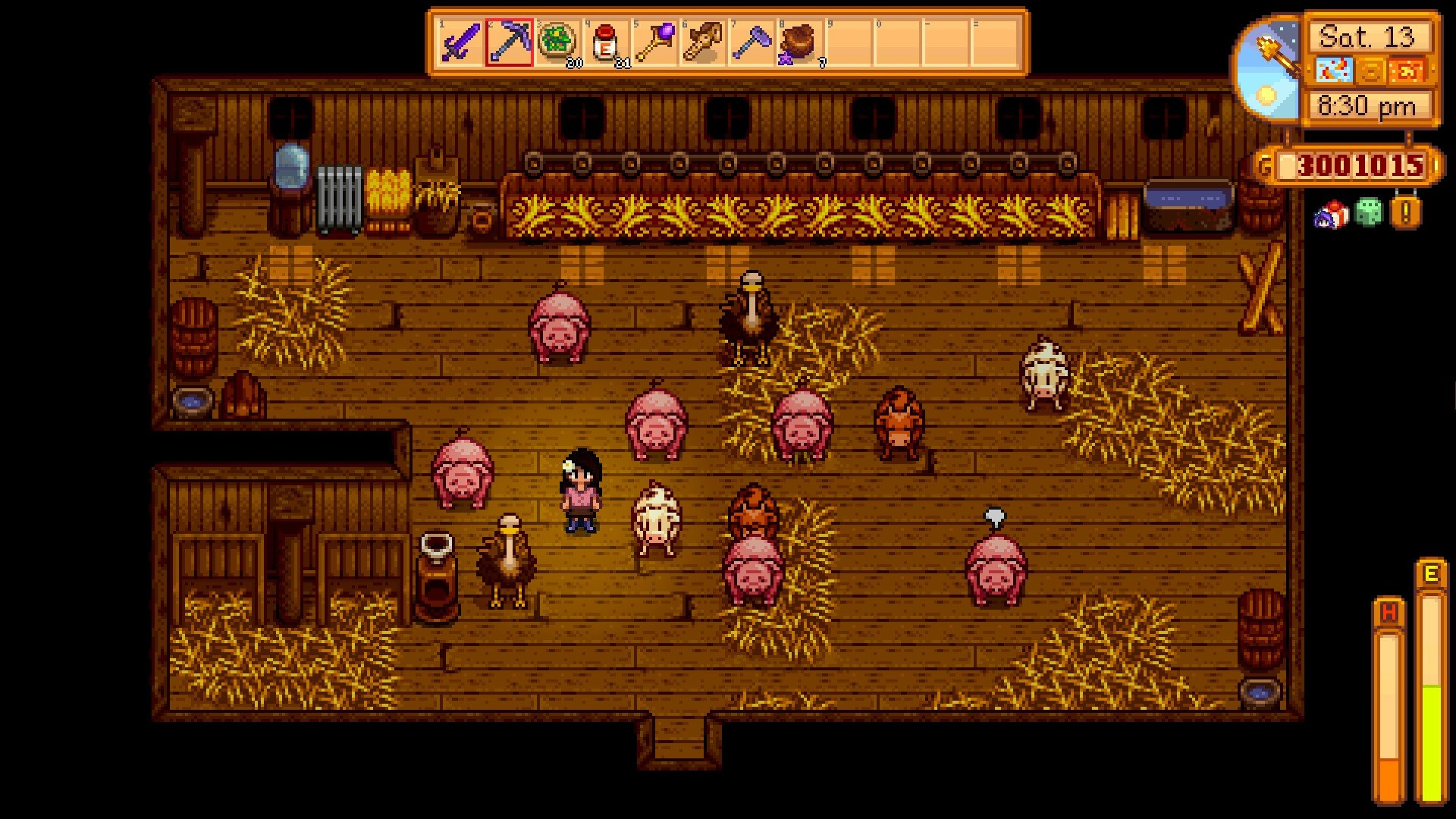 Here's what the ostrich looks like in Stardew Valley – if you're lucky!
