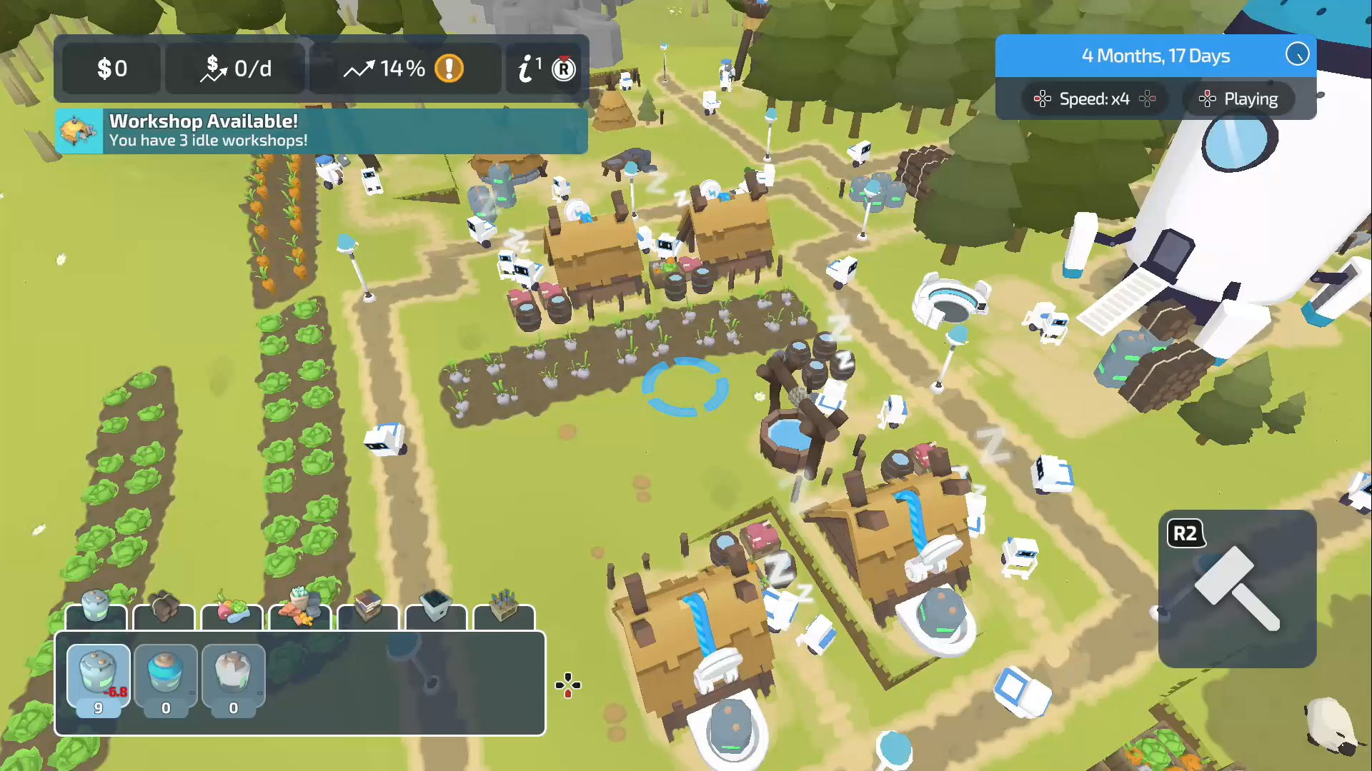 You can build farms in The Colonists.