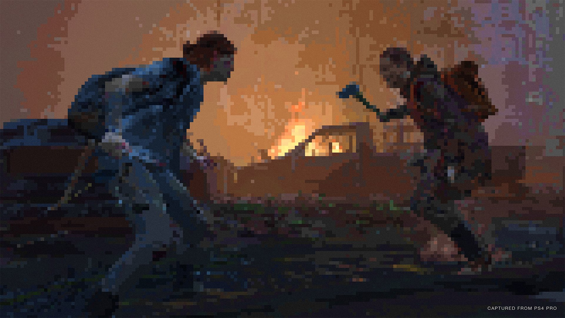 The Last of Us Part II pixelated graphics mode