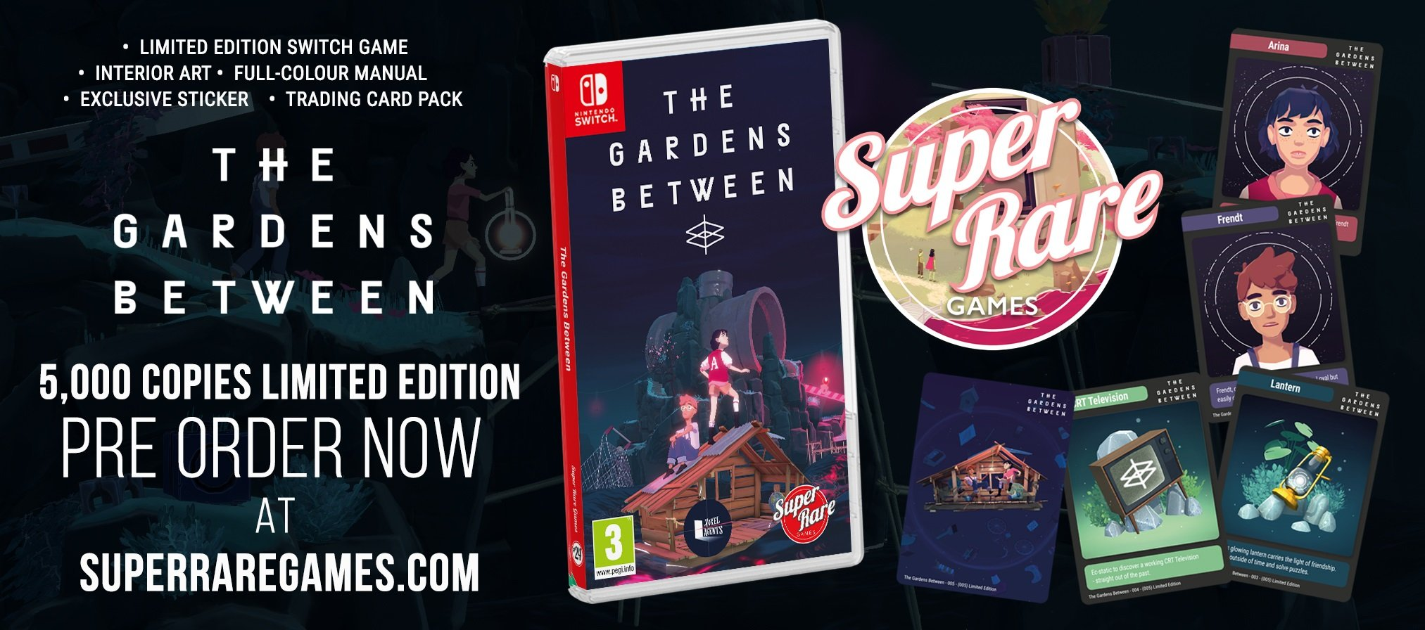 Super Rare Games The Gardens Between contest Switch