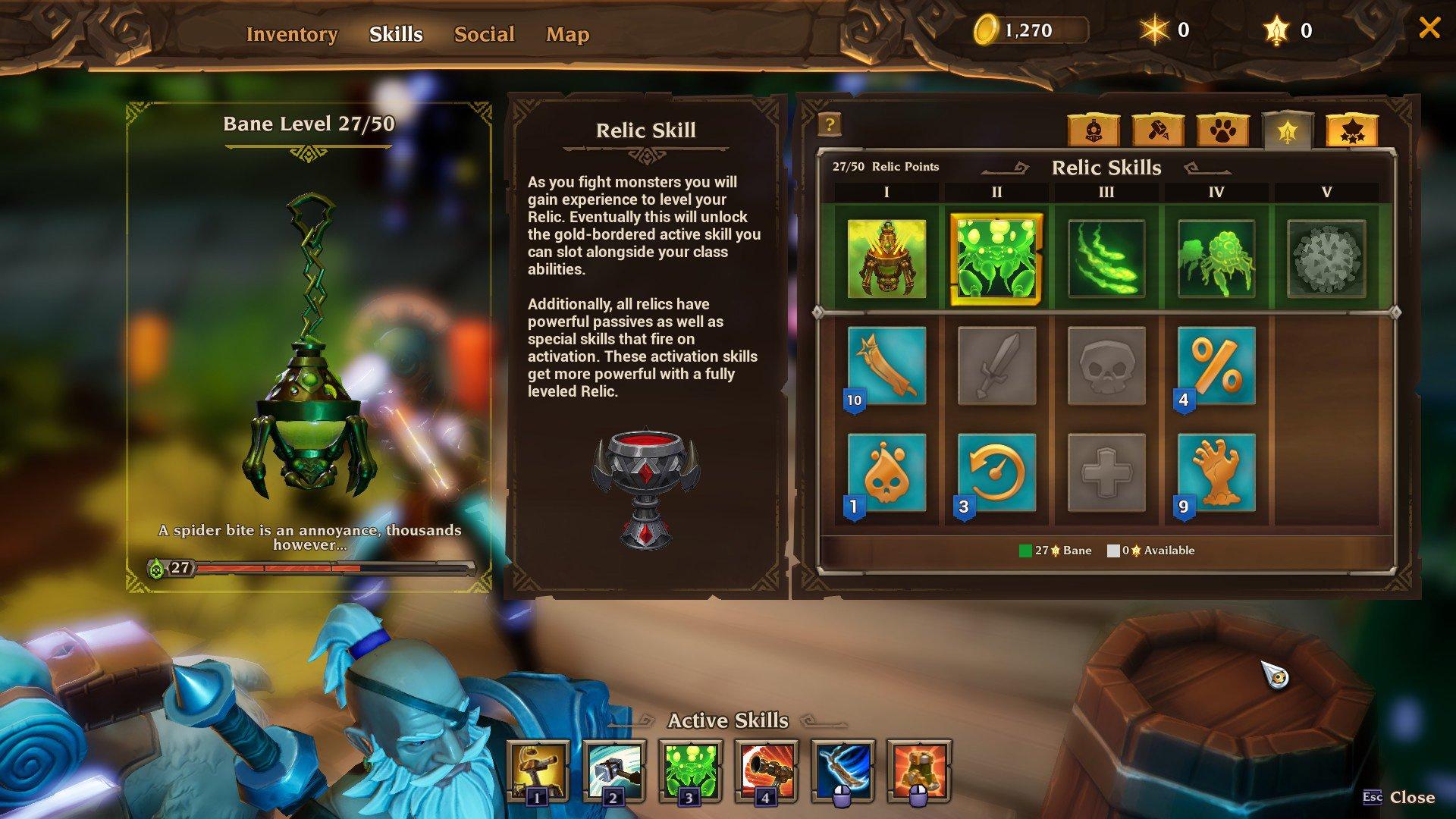Torchlight III Relic Skills