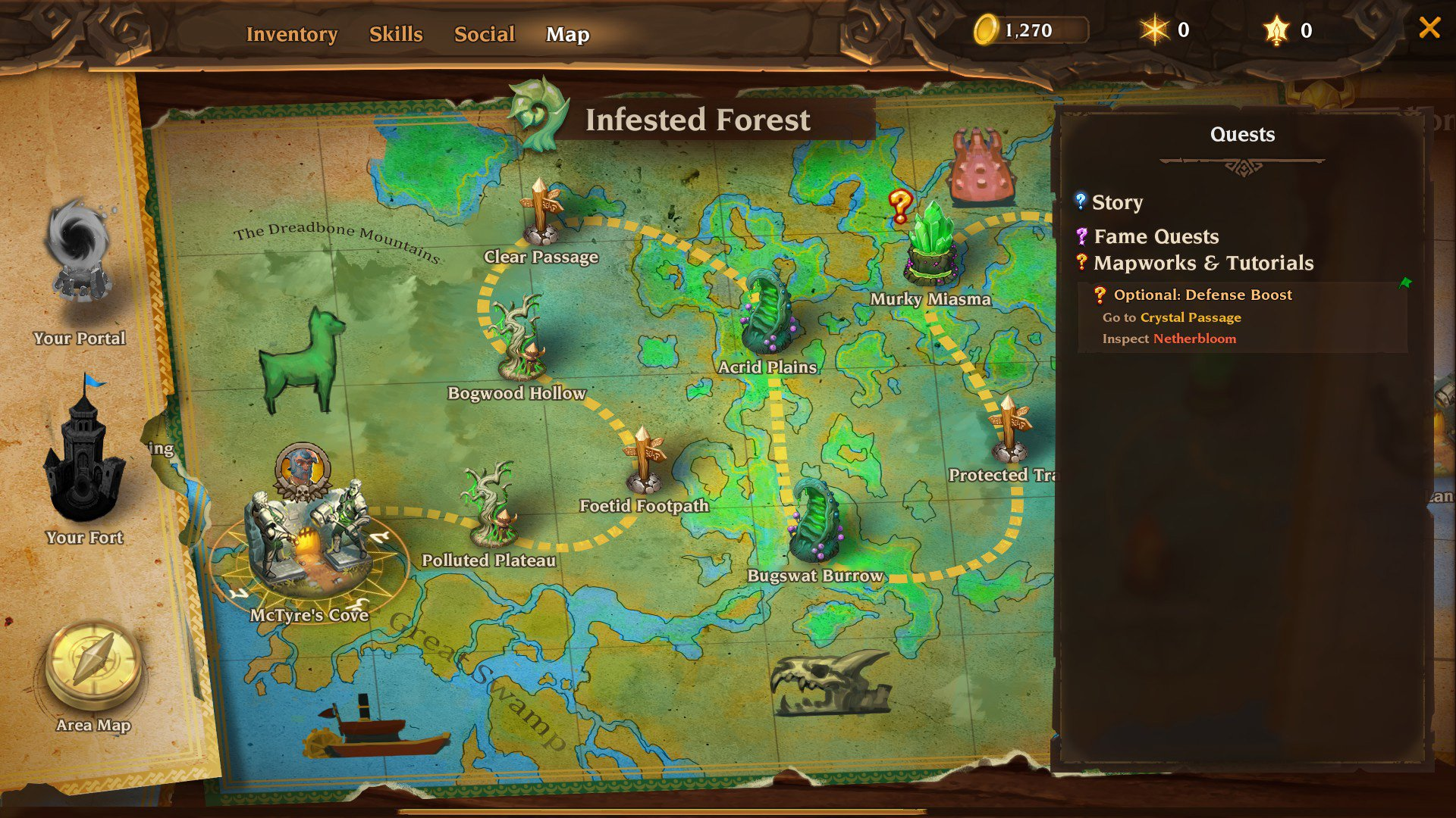 Torchlight III map