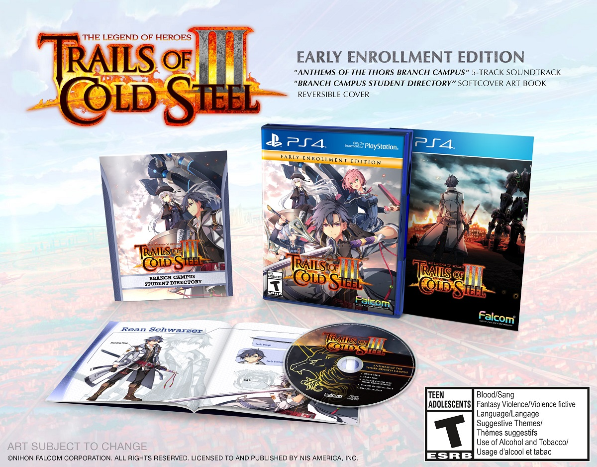 Trails of Cold Steel III Early Enrollment Edition contest