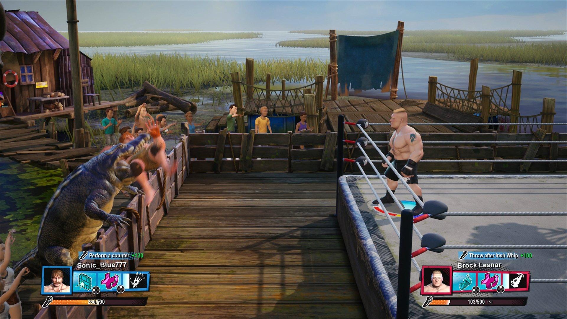 WWE 2K Battlegrounds crocodile