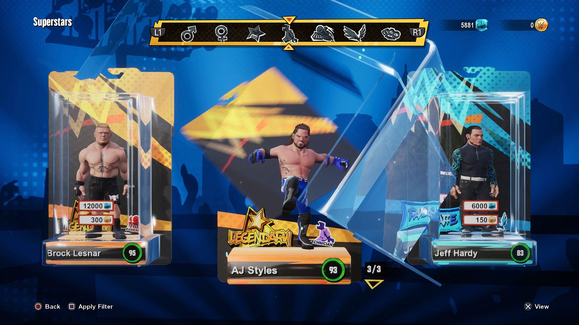 AJ Styles no selling his plastic box