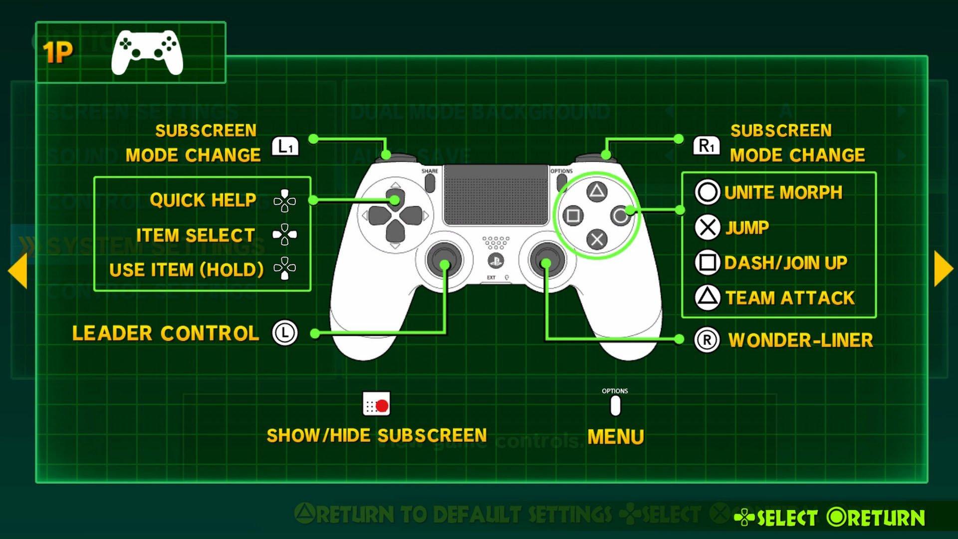 The Wonderful 101: Remastered controls