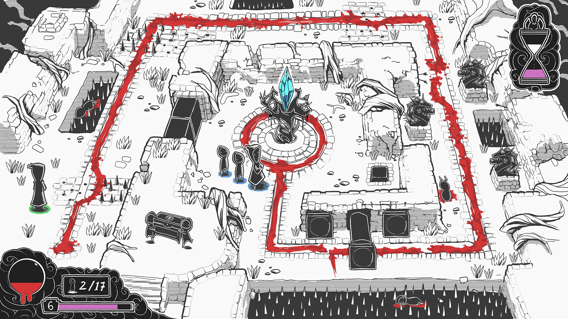 Worship is inspired by Pikmin's action-strategy combat and puzzle solving.
