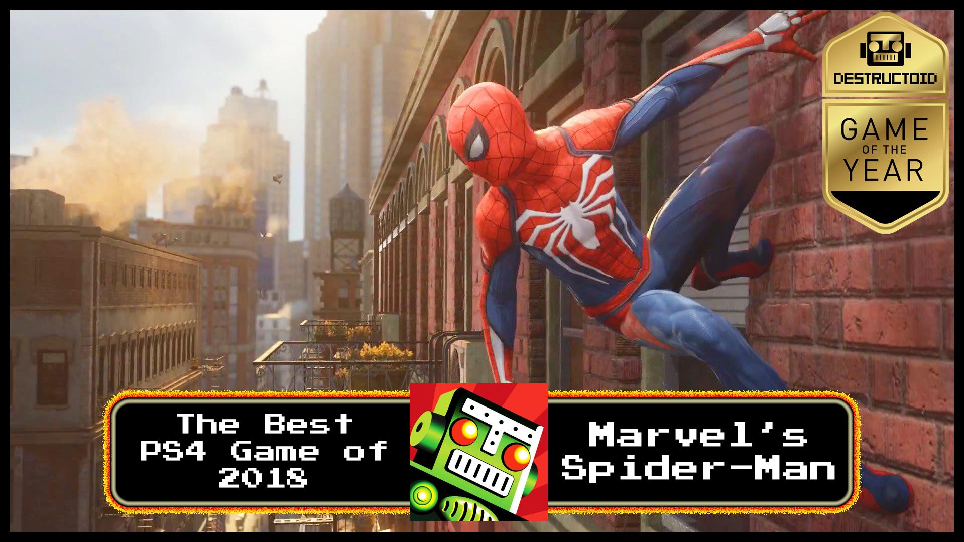 Spider-Man is Destructoid's Best PS4 Game of 2018