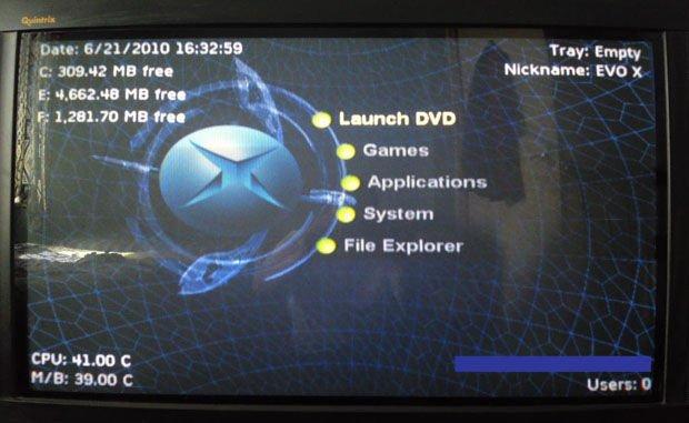 Evolution X dashboard for original Xbox