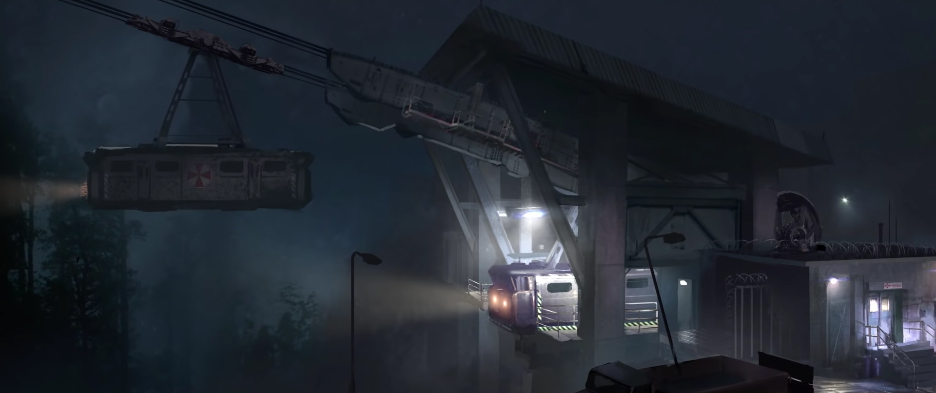 Resident Evil 2 cut content - mountain cable car