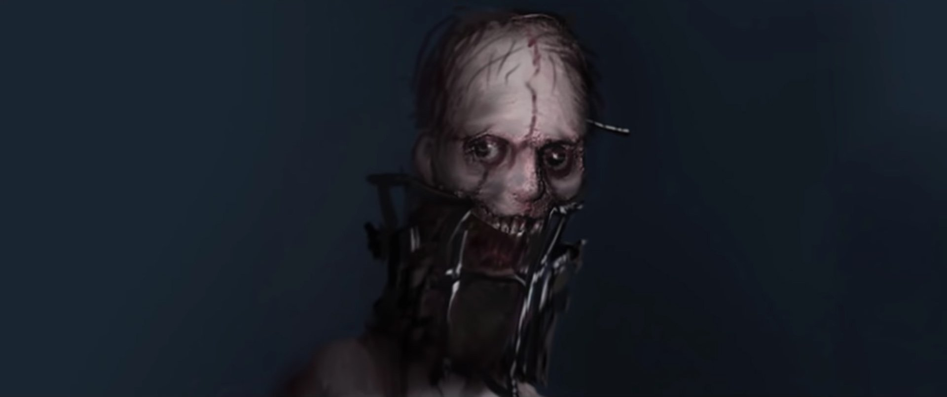 Resident Evil 2 cut content - Condemned face up close