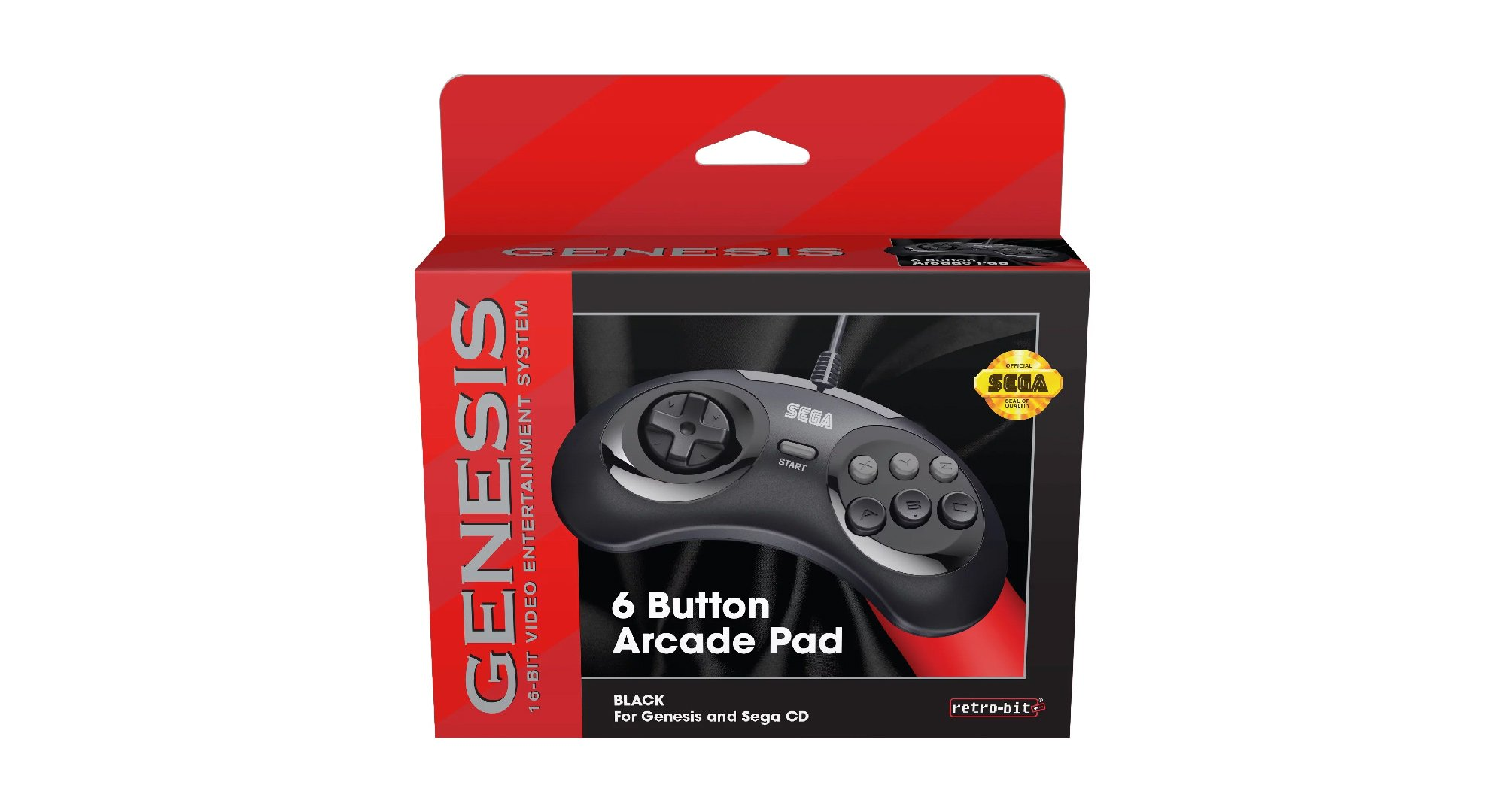 Retro-Bit's six-button Sega Genesis controller for 2019