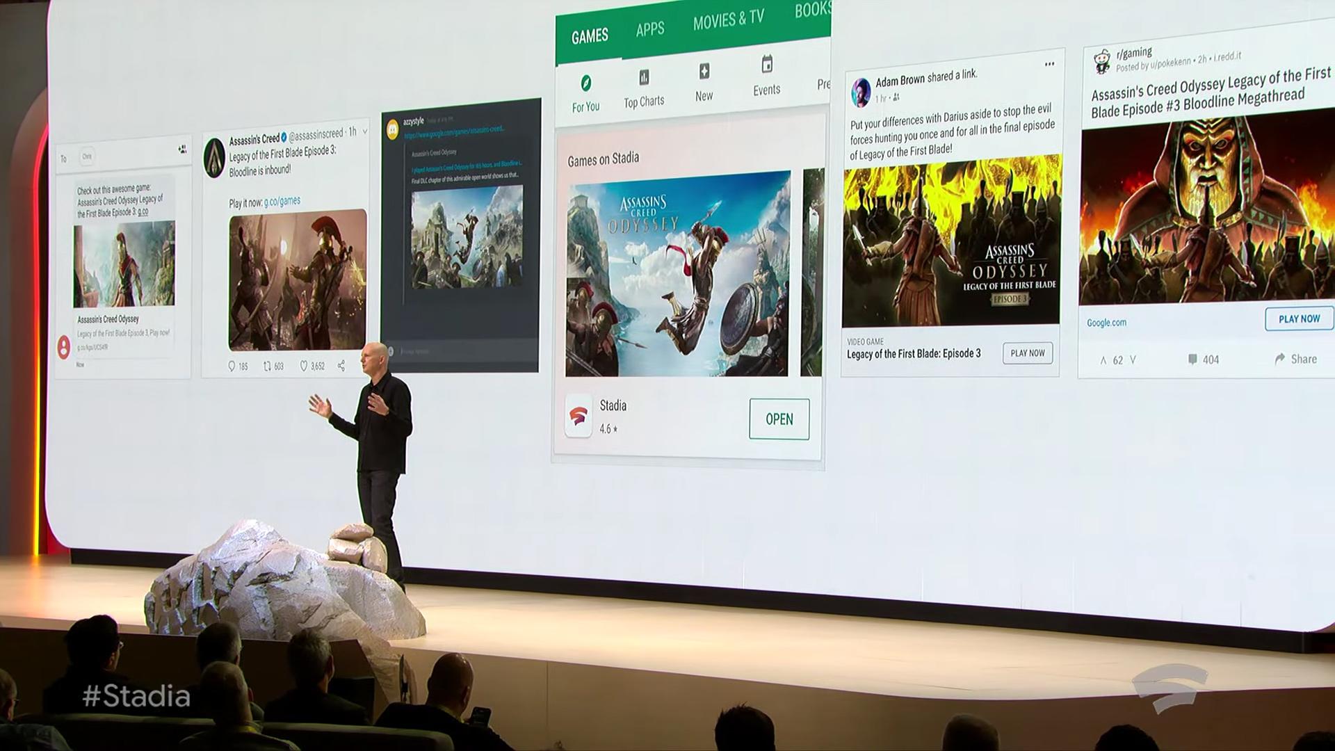 Google Stadia store links